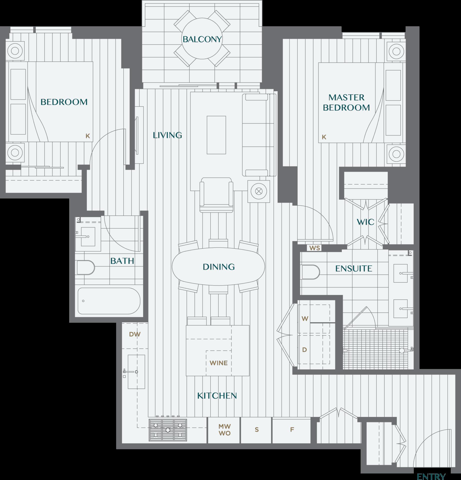 Legacy On Dunbar Floorplan 2C