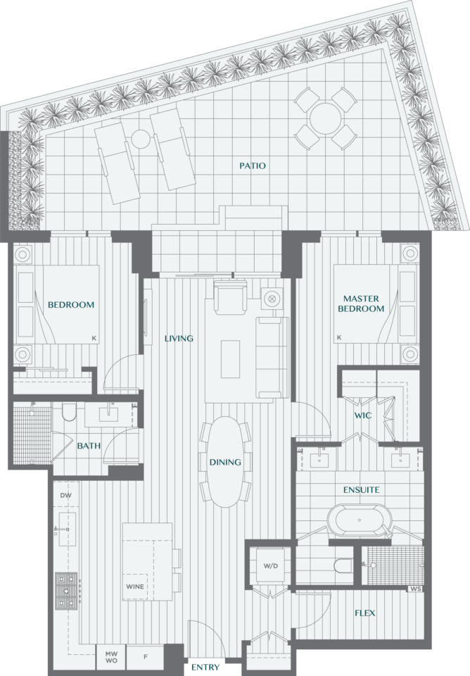 Legacy On Dunbar Floorplan 2H