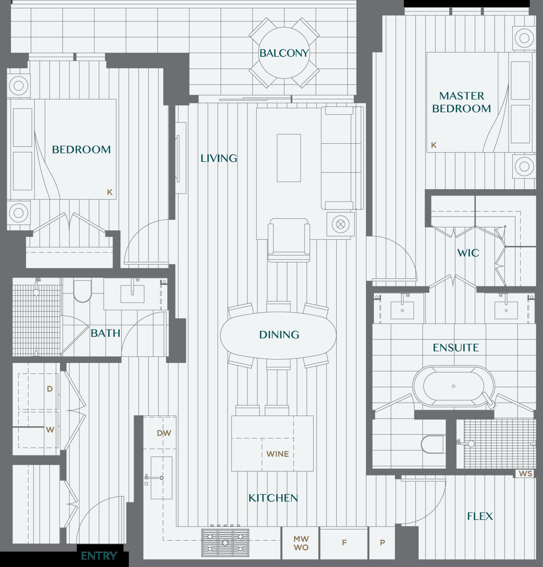 Legacy On Dunbar Floorplan 2I