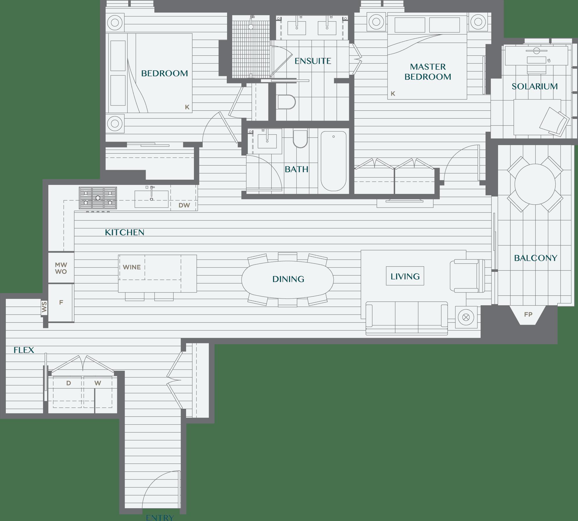 Legacy On Dunbar Floorplan 2O