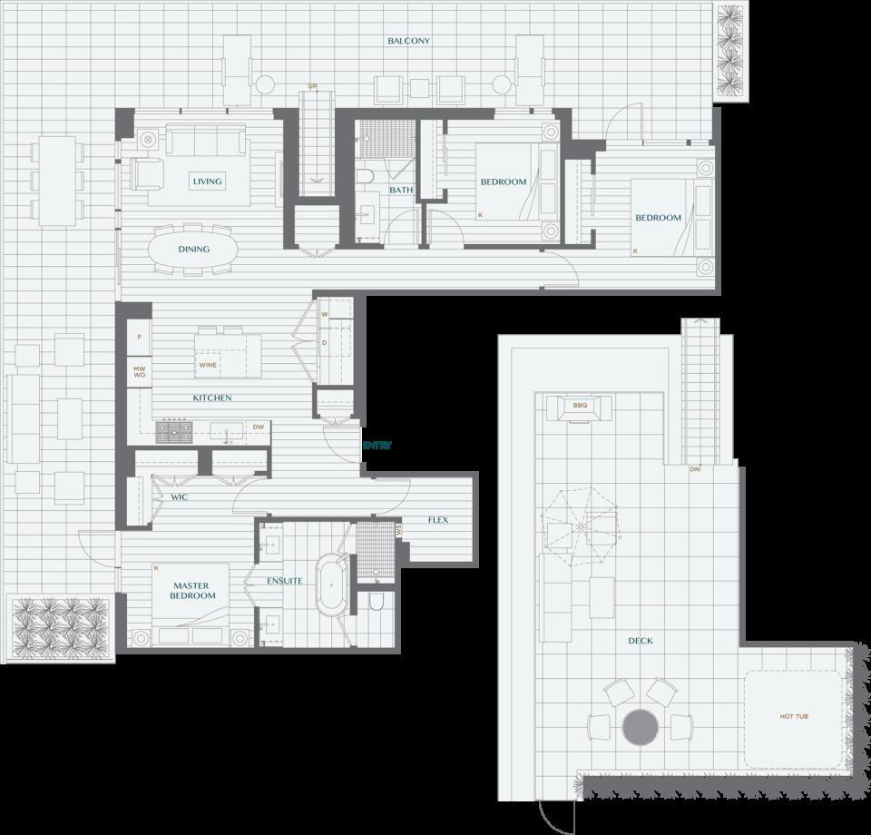 Legacy On Dunbar Floorplan PH3B