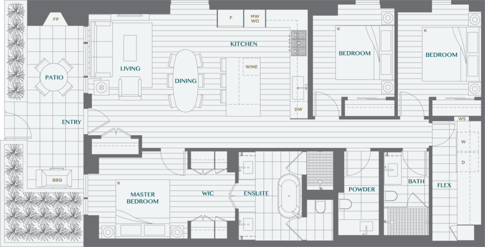 Legacy On Dunbar Floorplan TH3A