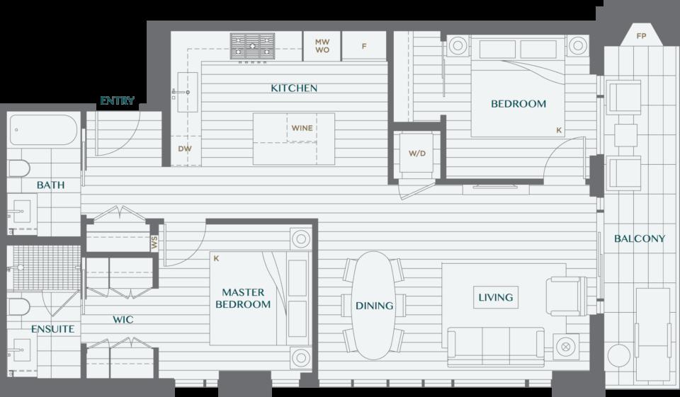 Legacy On Dunbar Floorplan 2B