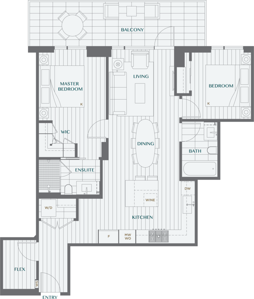 Legacy On Dunbar Floorplan 2D