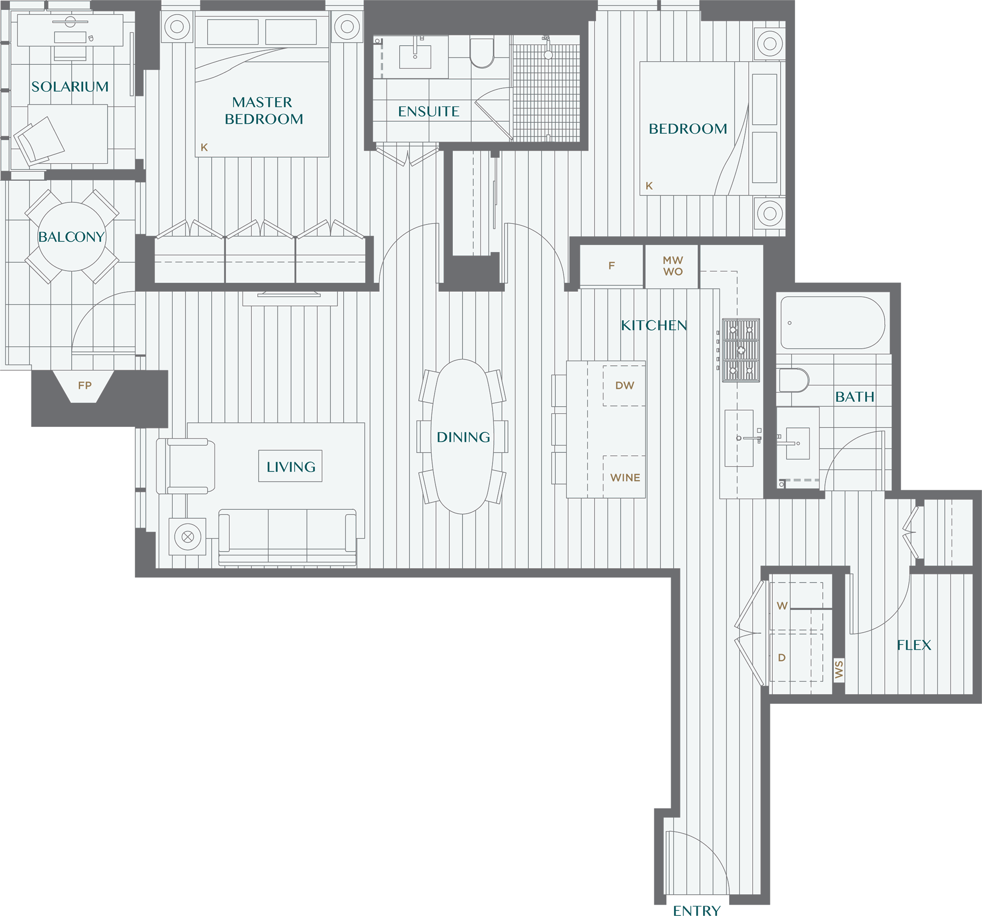 Legacy On Dunbar Floorplan 2M