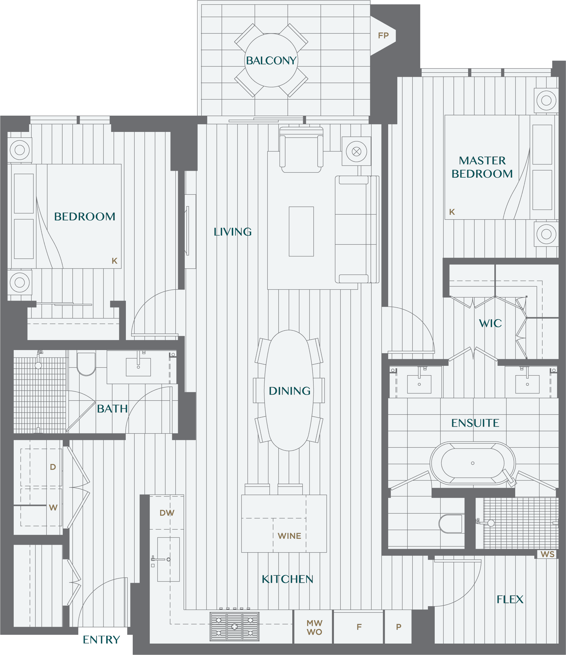 Legacy On Dunbar Floorplan 2N