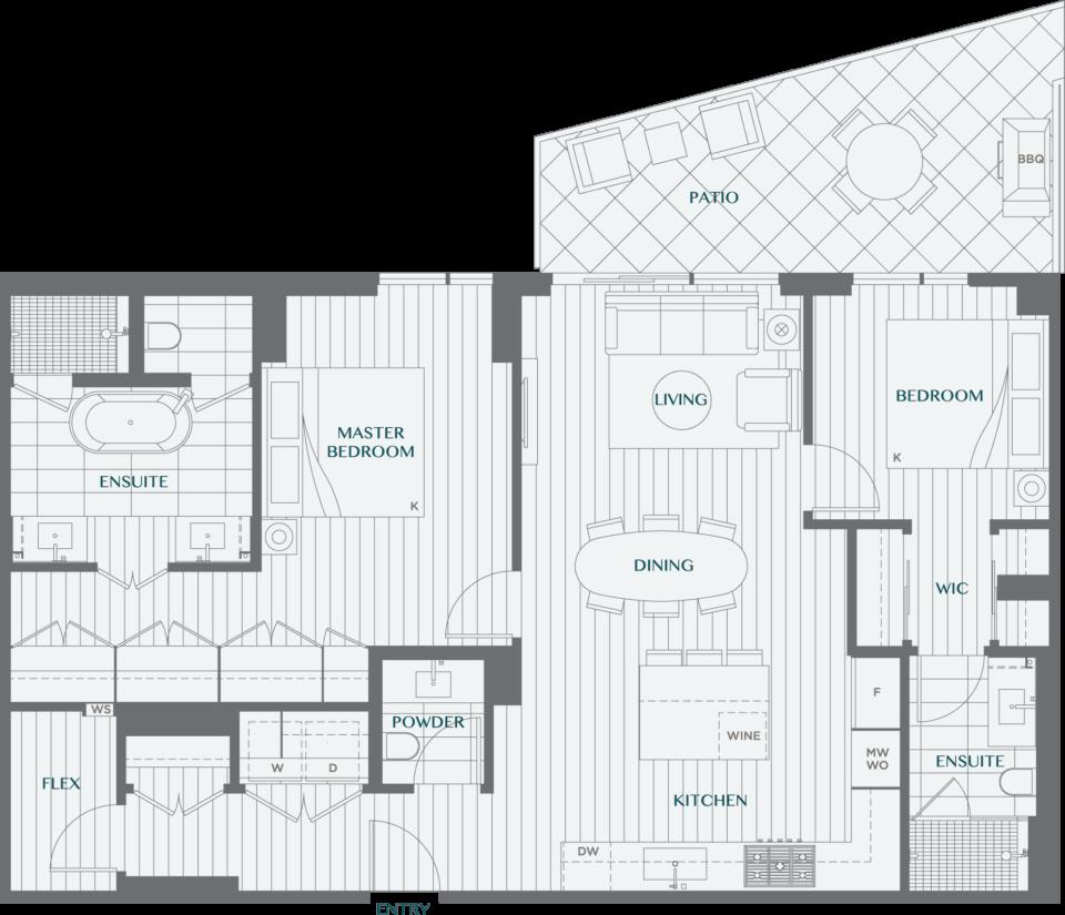Legacy On Dunbar Floorplan 2P