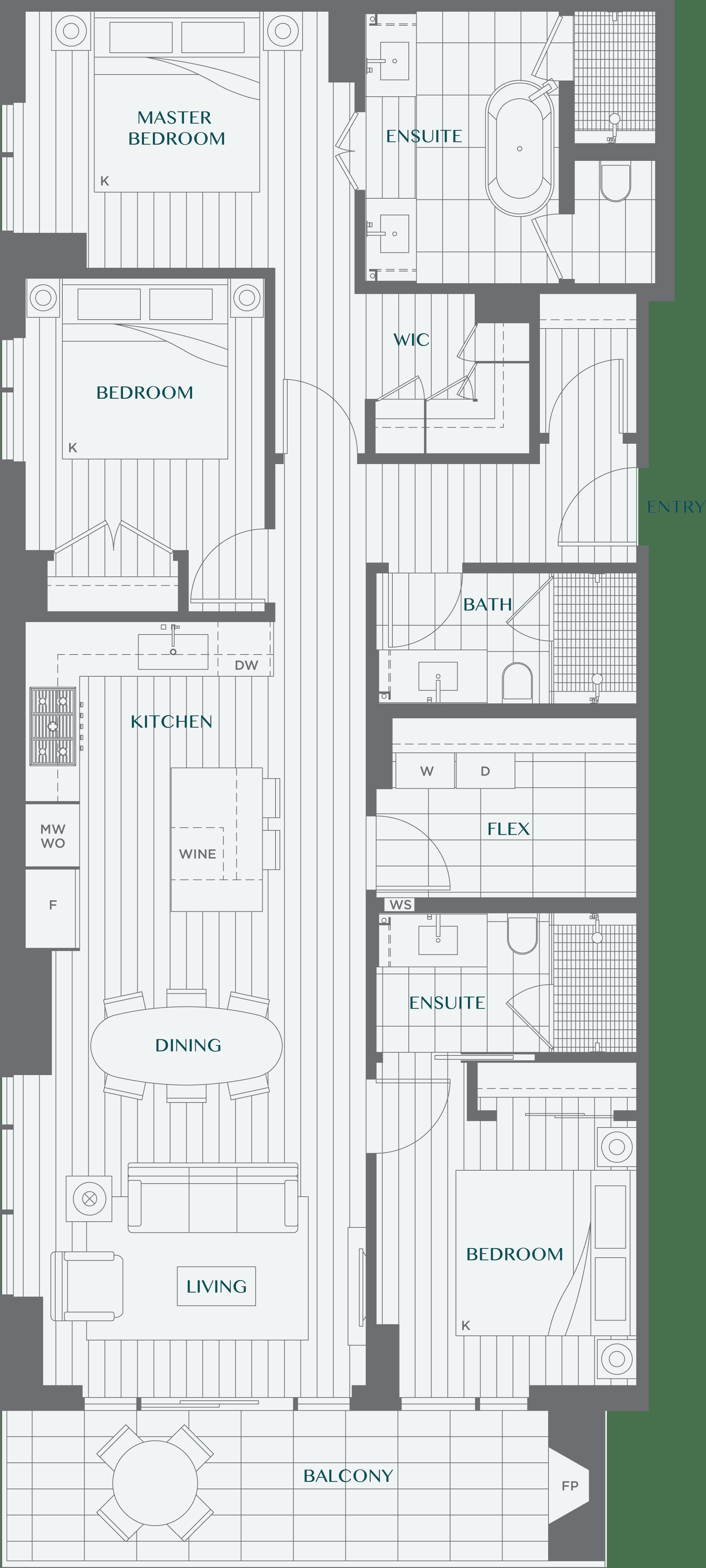 Legacy On Dunbar Floorplan 3A