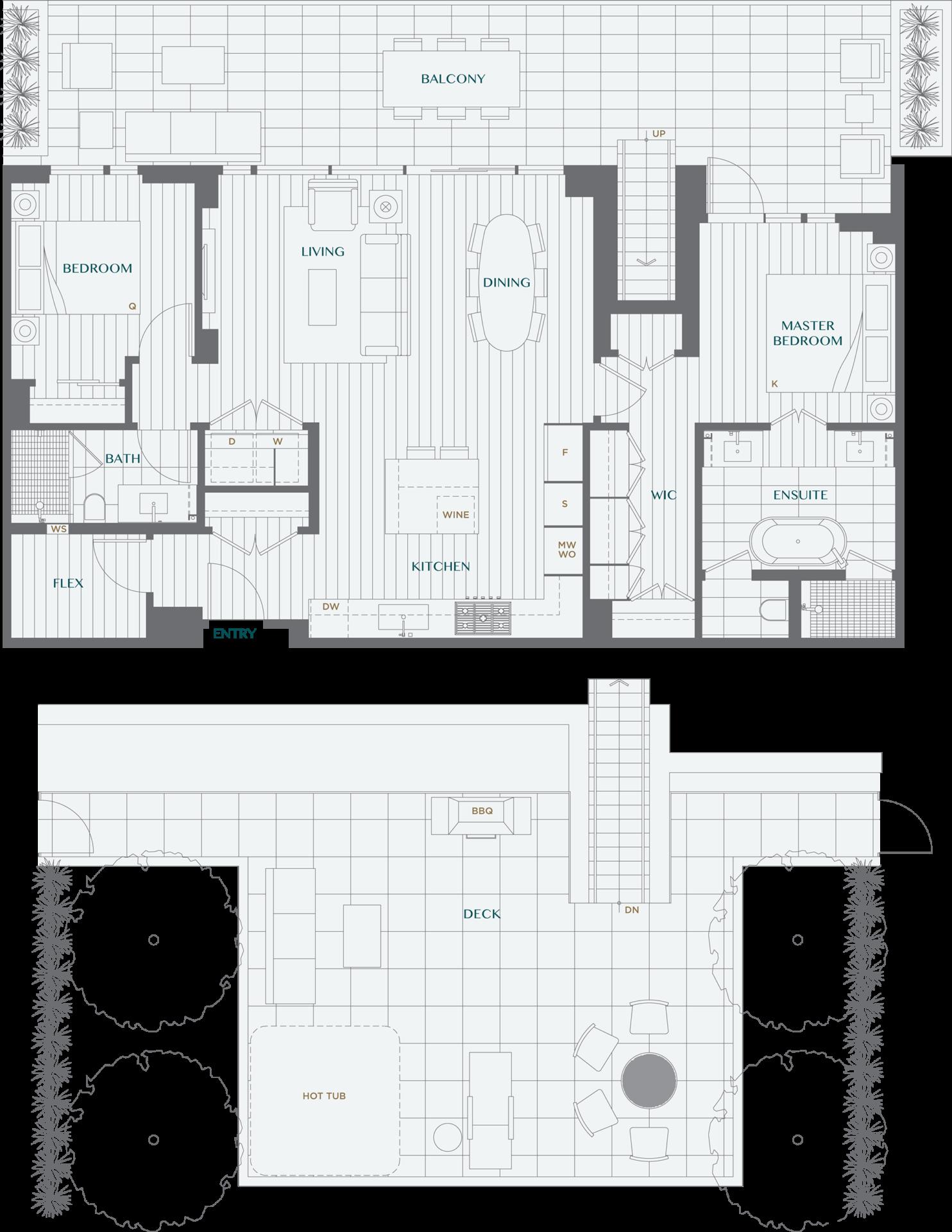 Legacy On Dunbar Floorplan PH2C